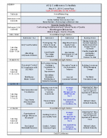 2019 ASQ Columbus Spring Conference Schedule